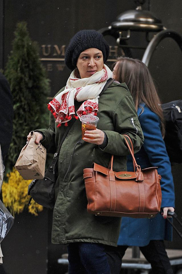 A very pregnant Maya Rudolph shows off her baby bump in SoHo.