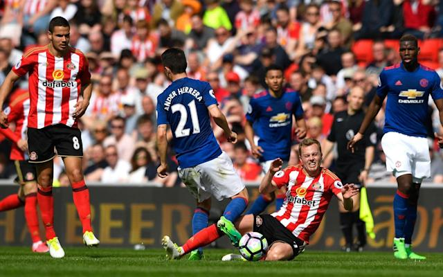 Larsson was harshly dismissed against United - Getty Images Europe