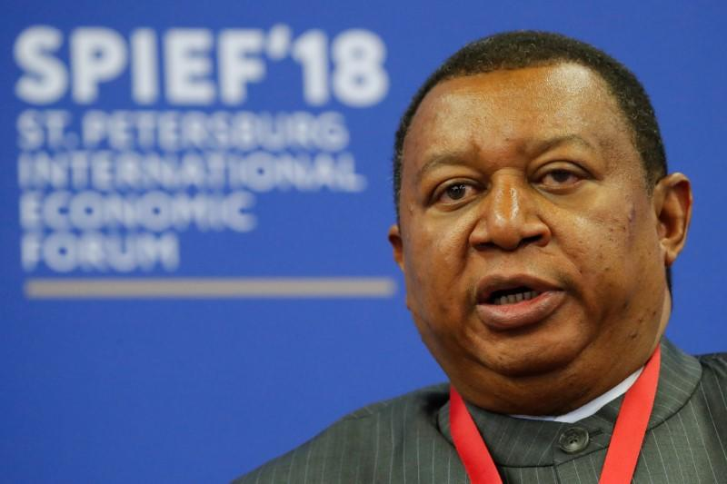 OPEC Secretary-General Barkindo attends a session of the St. Petersburg International Economic Forum