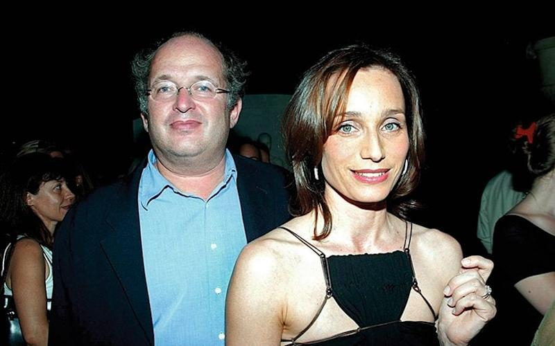 With her then husband, obstetrician François Olivennes, in Paris, 2003 - Sipa/Shutterstock
