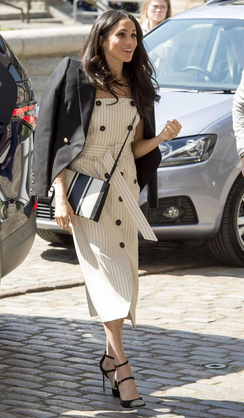 It comes following claims Meghan broke royal protocol again with her style choices the day before. Photo: Getty Images