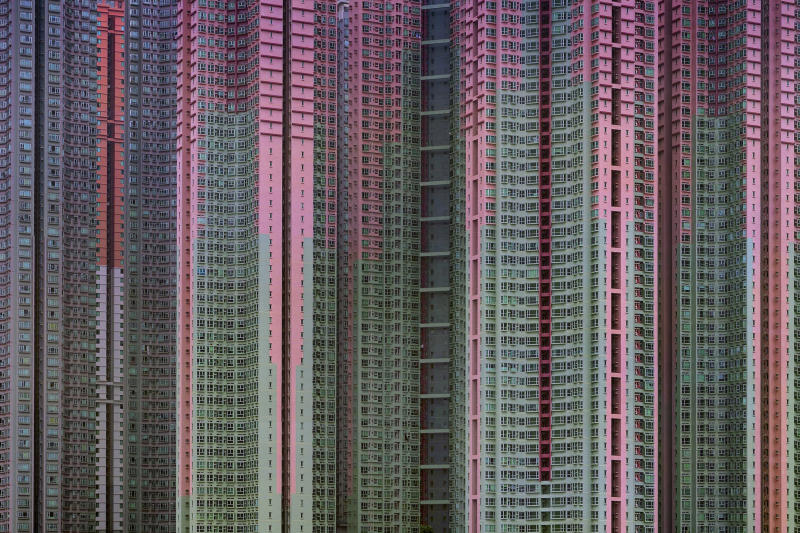 "CORRECTS THAT WOLF DIED WEDNESDAY, NOT TUESDAY - The 2005 famed photograph titled ""Architecture of Density' #39, showing massive housing by award-winning Hong Kong-based photographer Michael Wolf. Hong Kong art gallery director Sarah Greene said that Wolf, known for his work depicting mega-cities, has died Wednesday, April 24, 2019 at his home. She said he was 64. Wolf won first prize in the World Press Photo competition in 2005 and 2010. (Blue Lotus Gallery via AP)"