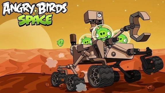Pigs Invade Mars in 'Angry Birds Space: Red Planet'