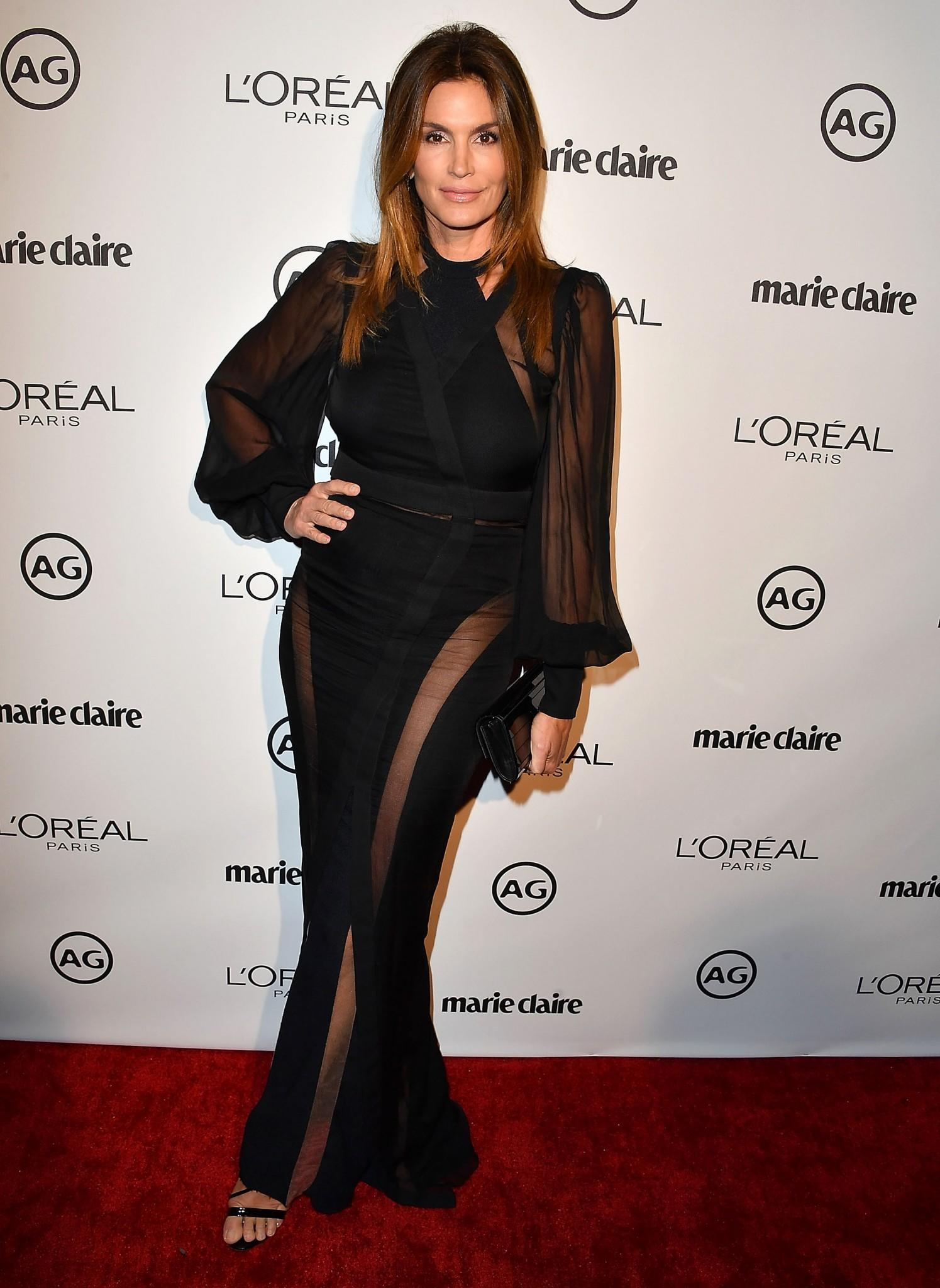 The supermodel wore Balmain to Marie Claire's Image Makers Awards. (Photo: Getty Images)
