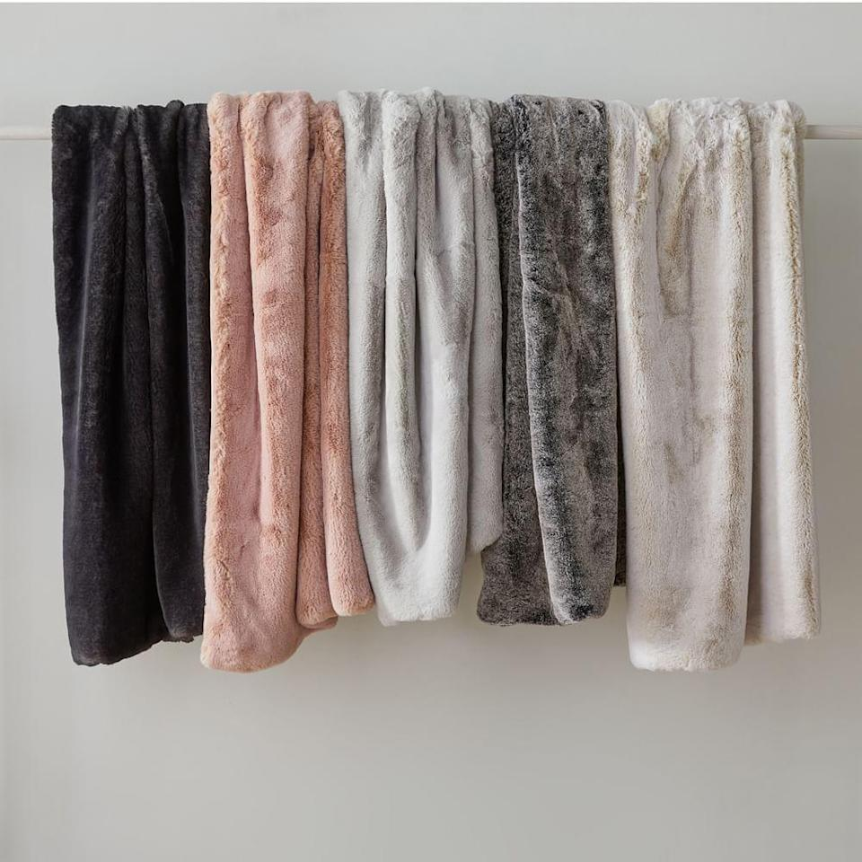 """<h2>West Elm Faux Fur Chinchilla Throw</h2><br>Cozy season is upon us — are you ready? """"A comfy and soft throw is ideal for the Venusian babe in your life,"""" recommends Stardust.<br><br><strong>West Elm</strong> Faux Fur Chinchilla Throw, $, available at <a href=""""https://go.skimresources.com/?id=30283X879131&url=https%3A%2F%2Fwww.westelm.com%2Fproducts%2Ffaux-fur-chinchilla-throw-t5208%2F"""" rel=""""nofollow noopener"""" target=""""_blank"""" data-ylk=""""slk:West Elm"""" class=""""link rapid-noclick-resp"""">West Elm</a>"""