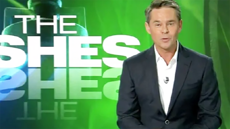 Todd Woodbridge headed up the coverage for Channel Nine. Image: Channel Nine