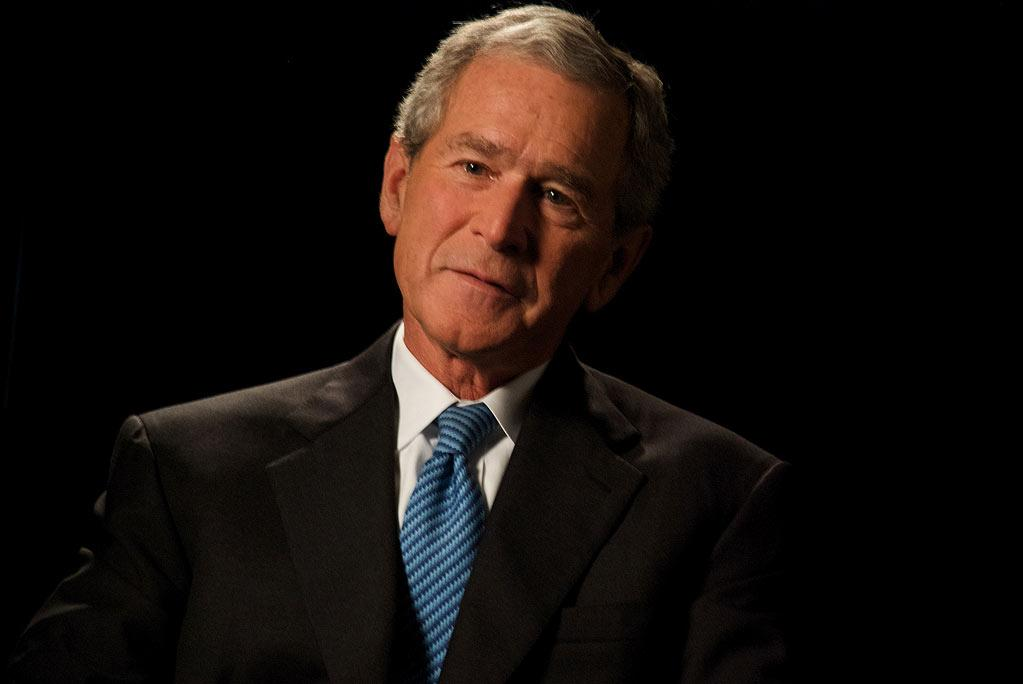 """George W. Bush during his interview about 9/11 as seen on """"George W. Bush:  The 9/11 Interview."""""""