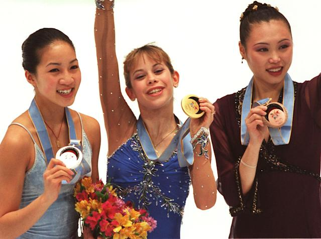 <p>Kwan is easily the most surprising name on this list. She won five World Championships and nine U.S. championships on her way to becoming one of the greatest skaters of all time. The only achievement that ever eluded the 2012 inductee into the World Figure Skating Hall of Fame was Olympic gold. She took home silver in 1998 (losing to Tara Lipinski) and bronze in 2002. </p>