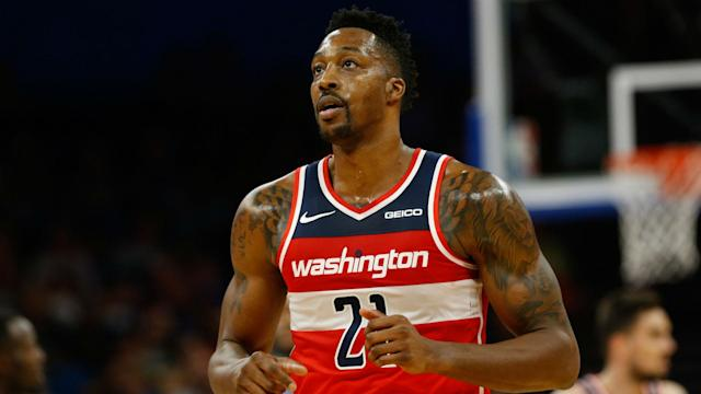 Wizards center Dwight Howard appeared on Fox Sports 1 and said Kawhi Leonard should re-sign with the Raptors this summer.