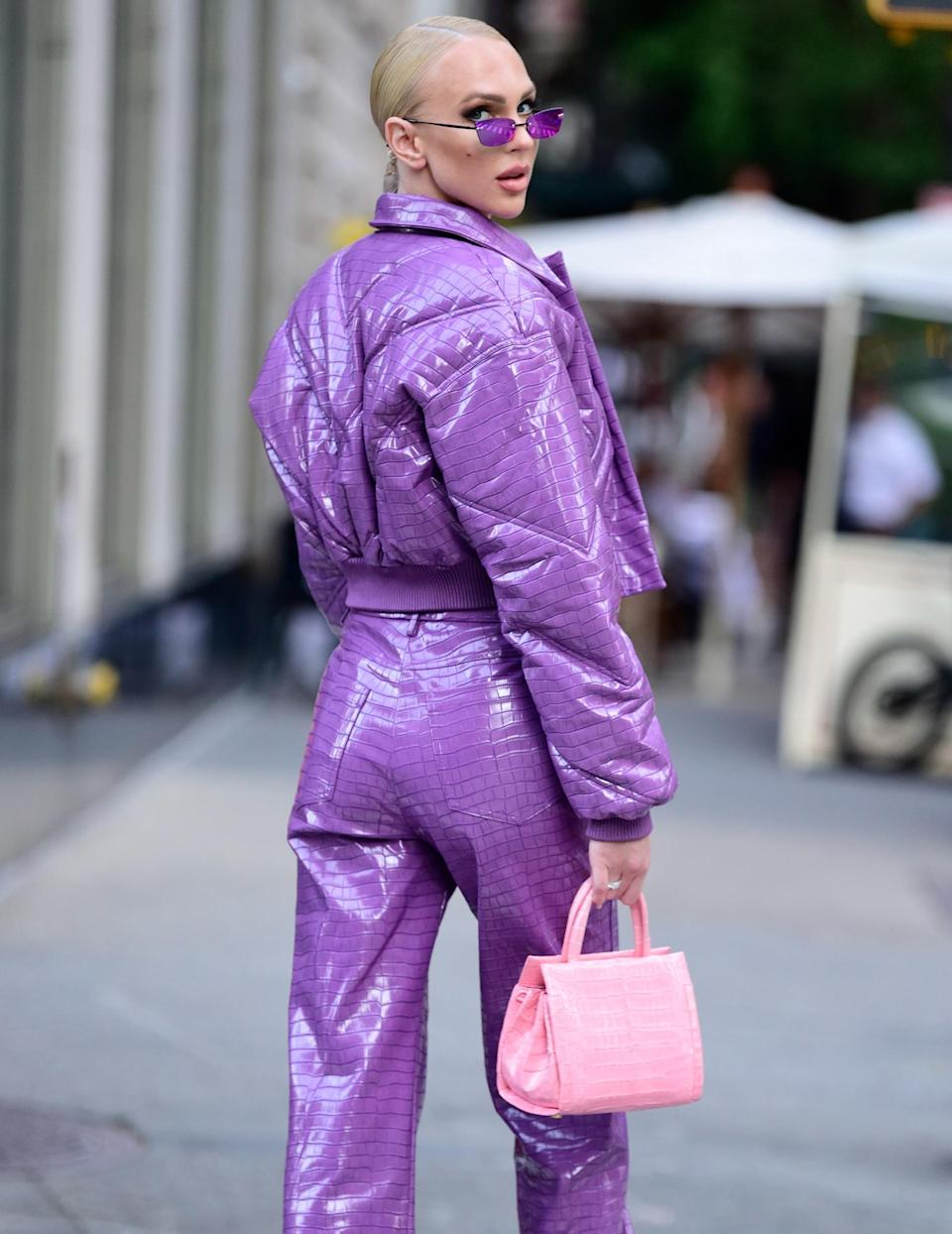 <p><em>Selling Sunset</em>'s Christine Quinn goes glam on the Upper East Side during a shoot on Sept. 14 in N.Y.C.</p>