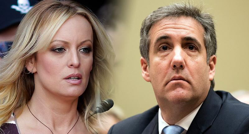 Stormy Daniels and Michael Cohen. (Photos: Markus Schreiber/AP - Patsy Lynch/MediaPunch /IPX/Getty Images)