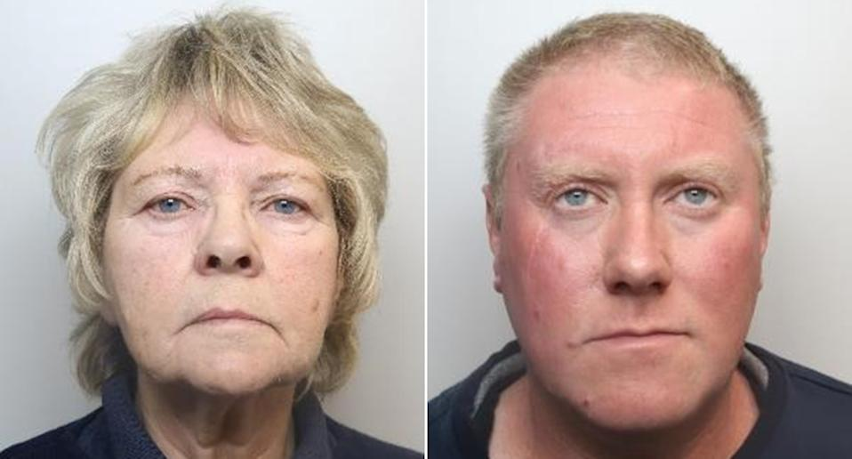 A jury at Sheffield Crown Court found Scott Dawson, 41, right, and his mother Carol Dawson, 71, guilty of murder (PA_