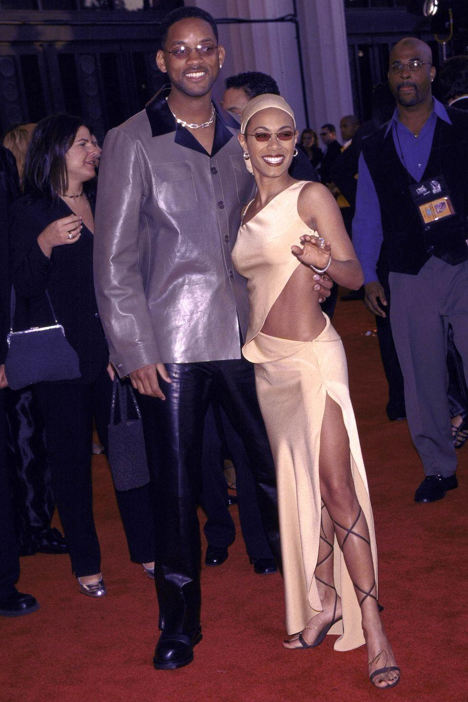 <p>Will Smith and Jada Pinkett at the Grammy Awards in 1999.</p>