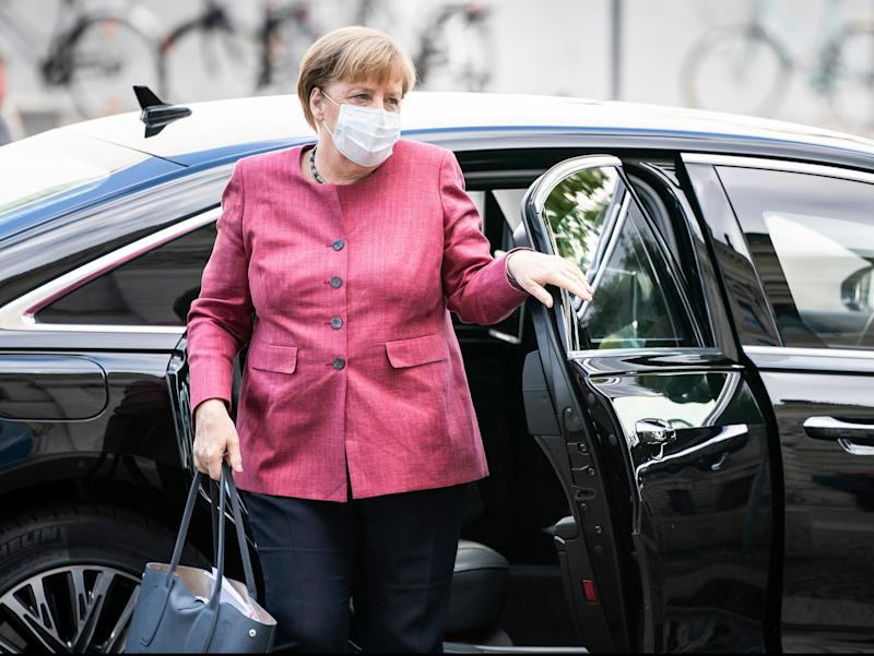 Angela Merkel has faced calls to halt a major gas pipeline from Russia to Germany (AP)