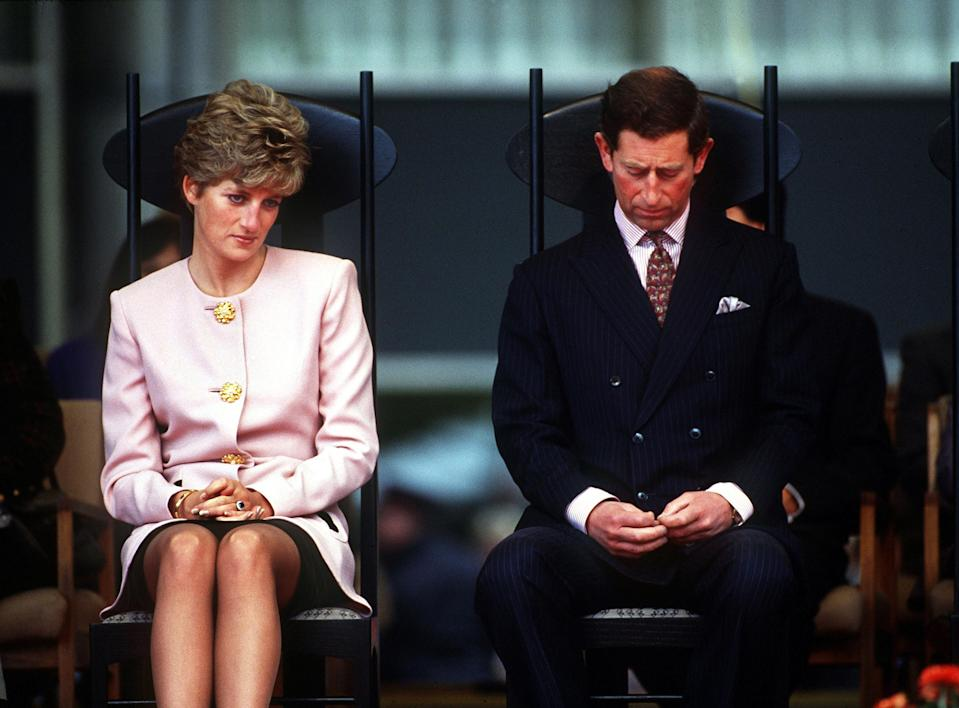 Things went downhill for Princess Diana and Prince Charles after she learnt of his affair with Camilla. Source: Getty