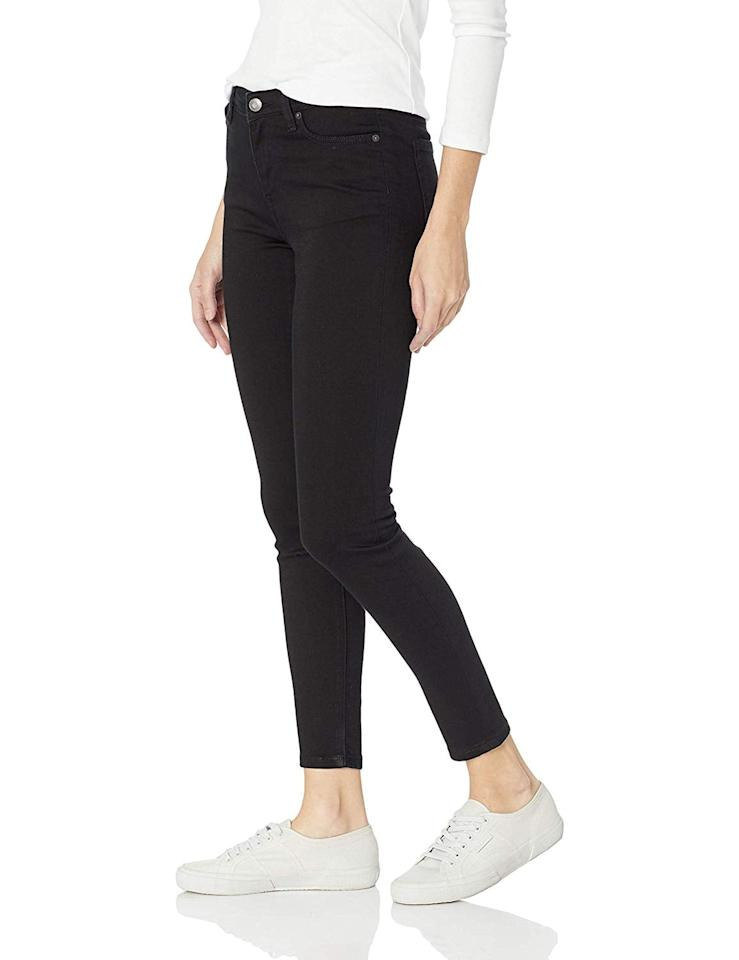 "<p><a href=""https://www.popsugar.com/buy/Amazon-Essentials-Skinny-Jeans-517289?p_name=Amazon%20Essentials%27%20Skinny%20Jeans&retailer=amazon.com&pid=517289&price=21&evar1=fab%3Aus&evar9=46898603&evar98=https%3A%2F%2Fwww.popsugar.com%2Fphoto-gallery%2F46898603%2Fimage%2F46898643%2FAmazon-Essentials-Skinny-Jeans&prop13=api&pdata=1"" rel=""nofollow"" data-shoppable-link=""1"" target=""_blank"" class=""ga-track"" data-ga-category=""Related"" data-ga-label=""https://www.amazon.com/Amazon-Essentials-Womens-Skinny-Regular/dp/B07BMPFSCR/ref=sr_1_7"" data-ga-action=""In-Line Links"">Amazon Essentials' Skinny Jeans</a> ($21-$29) come in 11 colors and denim washes. Almost 400 reviewers have raved about these jeans. </p>"