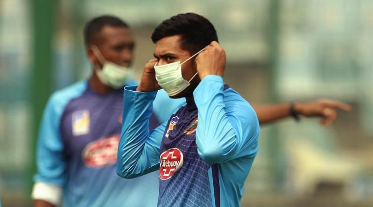Delhi pollution, Delhi air qualtity, India Bangladesh match Delhi, Delhi India bangladesh cricket match, Bangladesh players Delhi pollution, indian express news