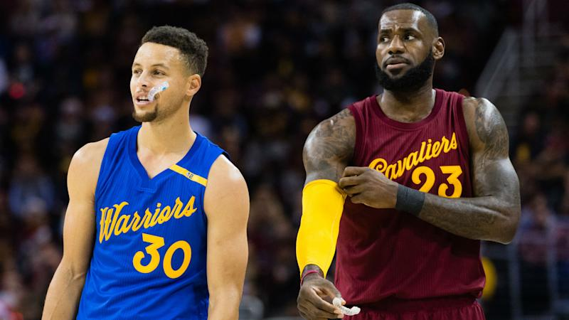 Stephen Curry's new deal with the Warriors is big, but it isn't big enough, according to LeBron James. (Getty)