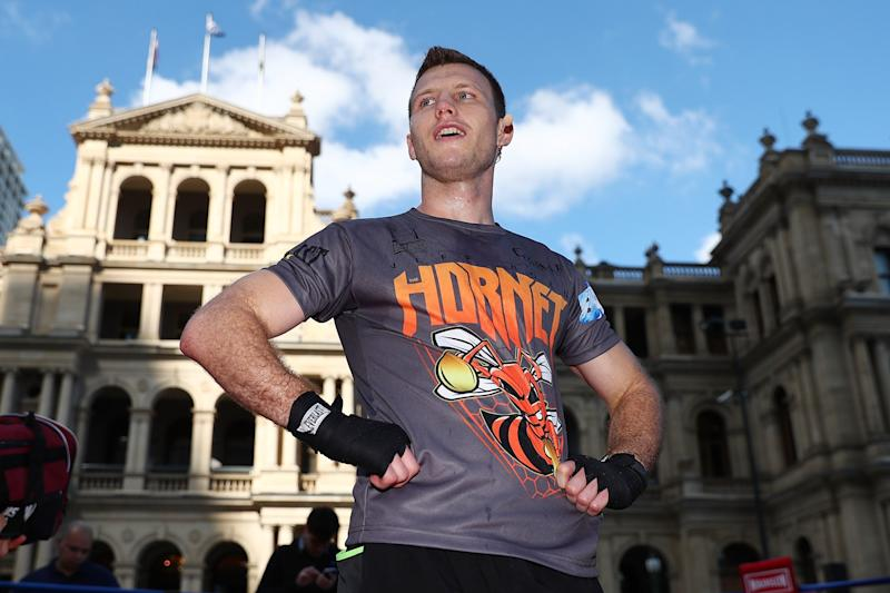 Jeff Horn during a training session at Reddacliff Place on June 29, 2017 in Brisbane, Australia.