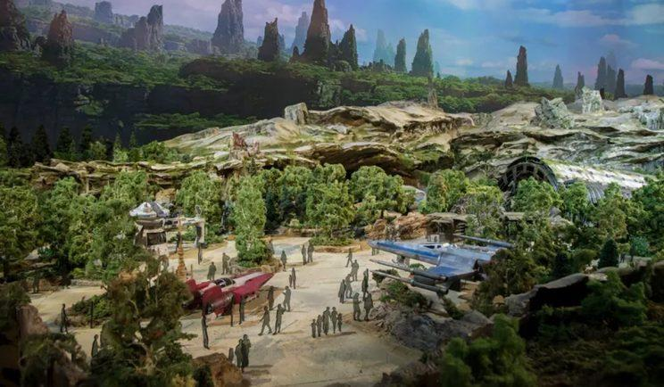 Star Wars ships on display at Star Wars Land - Credit: Disney