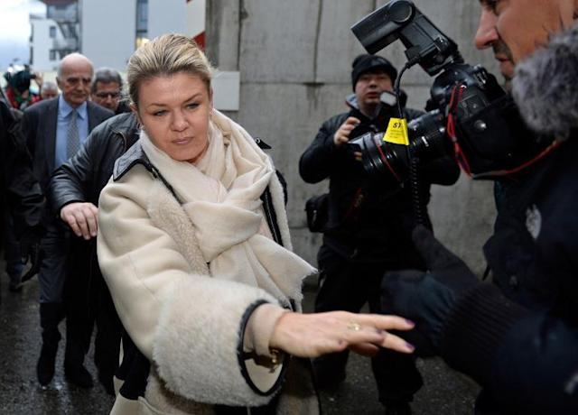 Corinna Schumacher arrives at the Grenoble University Hospital Centre on January 3, 2014