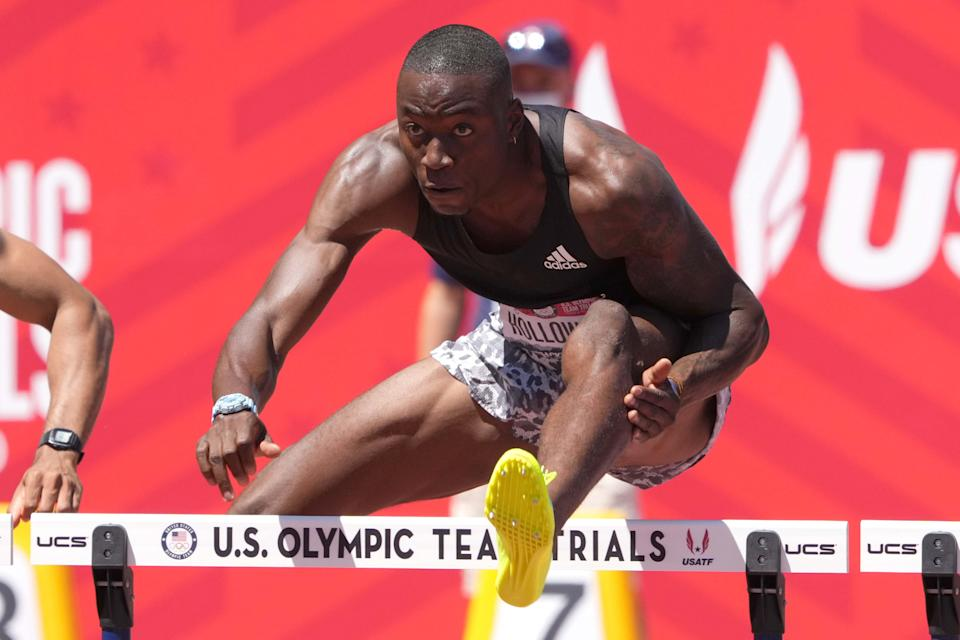 Grant Holloway was one-hundredth of a second off the world record in the 110-meter hurdles at the U.S. Olympic track and field trials in June 2021. The Tokyo Olympics are his first.