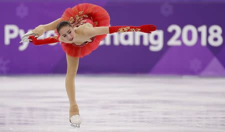 Figure Skating - Pyeongchang 2018 Winter Olympics - Women Single Skating free skating competition final - Gangneung Ice Arena - Gangneung, South Korea - February 23, 2018 - Alina Zagitova, an Olympic Athlete from Russia, competes. REUTERS/Damir Sagolj