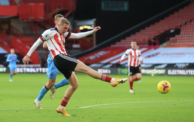 Oli McBurnie came close to levelling for Sheffield United