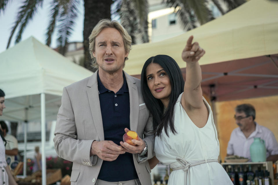 Owen Wilson and Salma Hayek star in the sci-fi drama, 'Bliss' (Photo: Hilary Bronwyn Gayle/Amazon Studios)