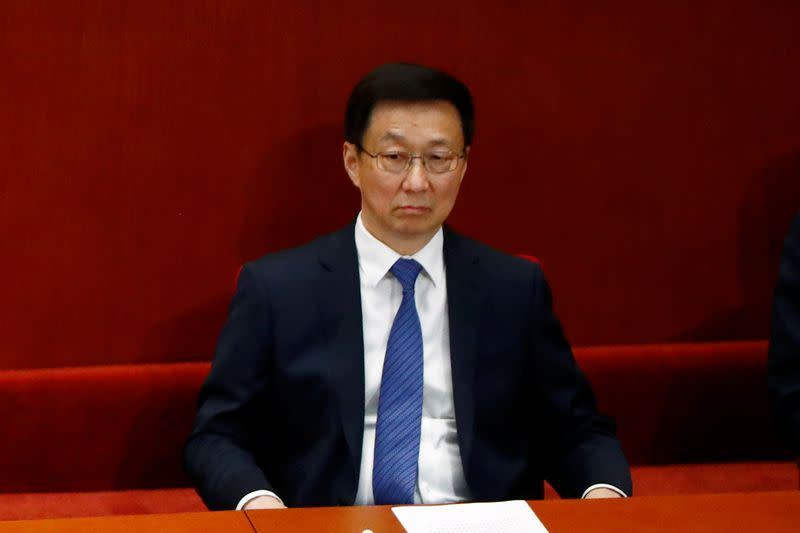 Chinese Vice Premier Han Zheng attends the closing session of CPPCC in Beijing