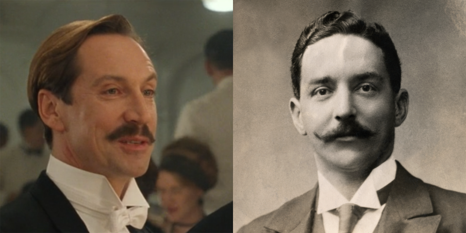 <p>Joseph Bruce Ismay, played by Jonathan Hyde, was the chairman and managing director White Star Line. He survived the sinking of <em>Titanic </em>and later testified before the U.S. Senate in an inquiry about the disaster. In the days after the sinking, the press harshly criticized him for saving himself while women and children were still aboard the ship. </p>