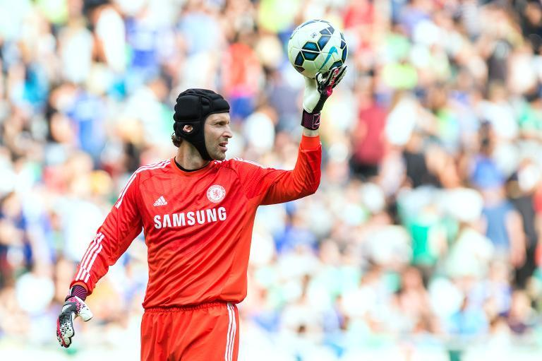 Chelsea's Czech goalkeeper Petr Cech pictured during a friendly against Olimpija Ljubljana at the Stozice stadium in Ljubljana on July 27, 2014 (AFP Photo/Rene Gomolj)
