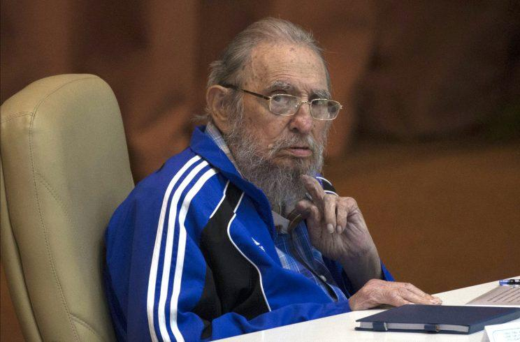 Fidel Castro attends the last day of the 7th Cuban Communist Party Congress in Havana, Cuba. Fidel Castro formally stepped down in 2008 after suffering gastrointestinal ailments and public appearances have been increasingly unusual in recent years, April 19, 2016.(Photo: Ismael Francisco/Cubadebate /AP)