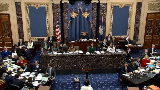 PHOTO: Senate floor during the impeachment trial for President Donald Trump, Jan. 22, 2020, in Washington, DC. (ABC News)