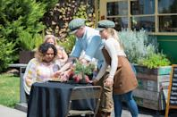 <p>Kyle presents Jacinta with his carefully-crafted dish.</p>