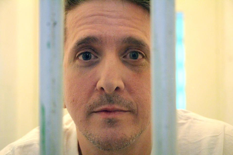 Richard Glossip at Oklahoma State Penitentiary in McAlester, Okla., in November 2016. Glossip has been on death row for over two decades. His case has motivated Oklahoma state Rep. Kevin McDugle to pursue legislation that he hopes will fix the death penalty.