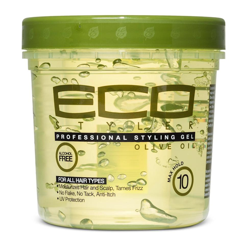 "<p><a href=""https://www.popsugar.com/buy/Eco-Style-Professional-Olive-Oil-Styling-Gel-559349?p_name=Eco%20Style%20Professional%20Olive%20Oil%20Styling%20Gel&retailer=target.com&pid=559349&price=3&evar1=bella%3Aus&evar9=47333428&evar98=https%3A%2F%2Fwww.popsugar.com%2Fphoto-gallery%2F47333428%2Fimage%2F47333460%2FEco-Style-Professional-Olive-Oil-Styling-Gel&list1=hair%2Chair%20care%20products%2Chair%20care%2Cnatural%20hair&prop13=api&pdata=1"" rel=""nofollow"" data-shoppable-link=""1"" target=""_blank"" class=""ga-track"" data-ga-category=""Related"" data-ga-label=""https://www.target.com/p/eco-style-professional-olive-styling-gel-16-fl-oz/-/A-47898734"" data-ga-action=""In-Line Links"">Eco Style Professional Olive Oil Styling Gel</a> ($3) is a staple for many naturals. The alcohol-free formula limits frizz and keeps hair in place without leaving traces of harmful chemicals and flakes on your hair.</p>"