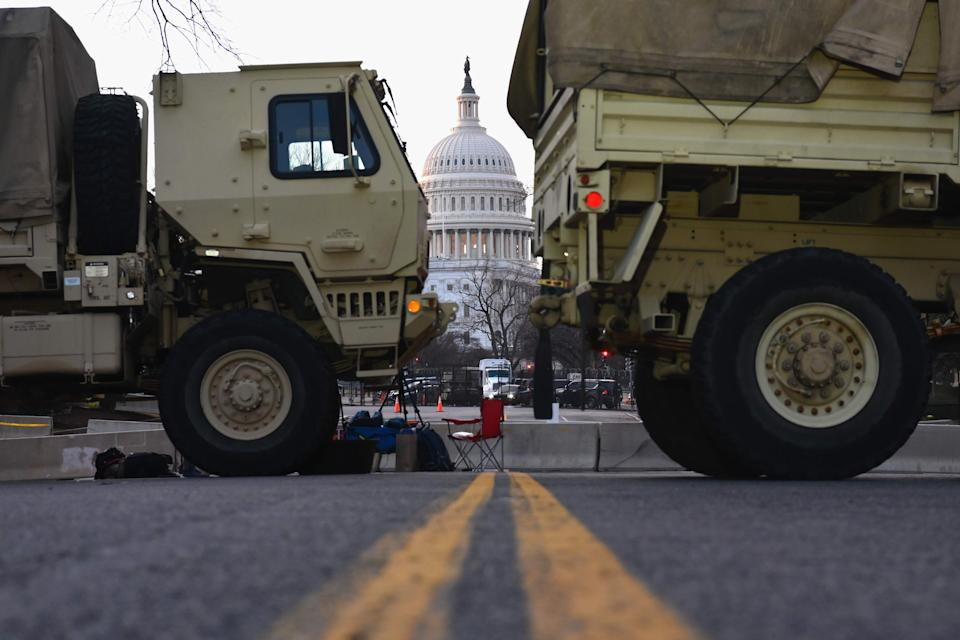 <p>View of the US Capitol Building ahead of the 59th inaugural ceremony for President-elect Joe Biden and Vice President-elect Kamala Harris</p> (AFP via Getty Images)