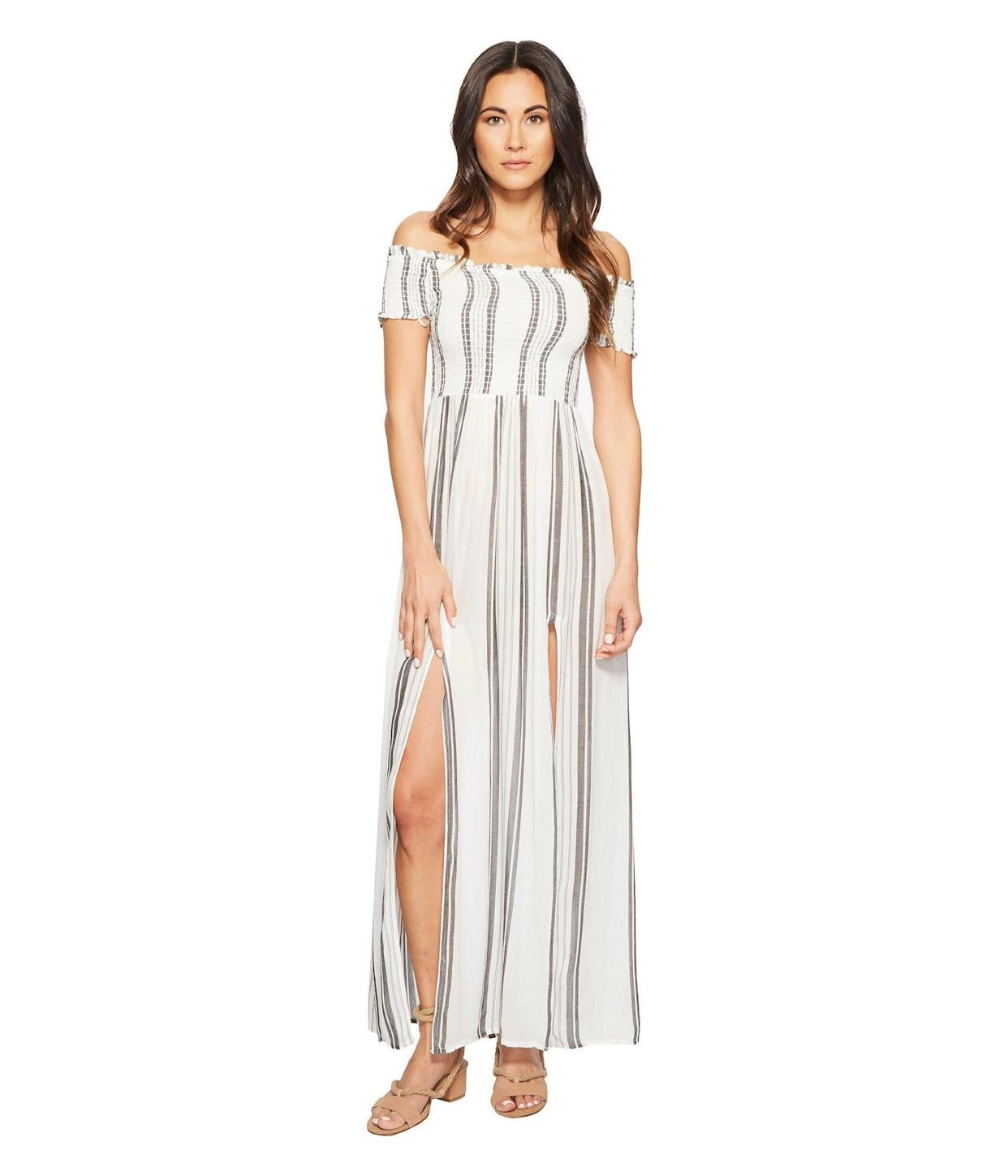 "<strong><a href=""https://www.zappos.com/p/rip-curl-soulmate-maxi-dress-white/product/9055255/color/14"" rel=""nofollow noopener"" target=""_blank"" data-ylk=""slk:Rip Curl Soulmate maxi dress"" class=""link rapid-noclick-resp"">Rip Curl Soulmate maxi dress</a>, $49.99</strong>"