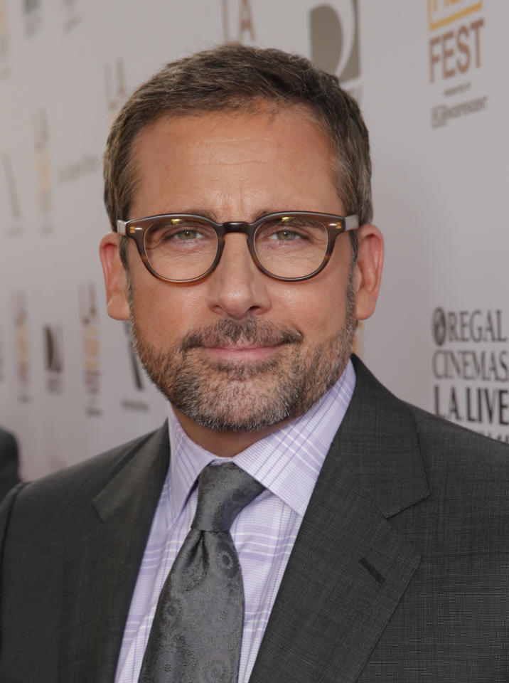 Steve Carrell attends the premiere of Fox Searchlight Pictures' 'The Way, Way Back' after party at L.A. Live Event Deck on Sunday, June 23, 2013 in Los Angeles. (Photo by Todd Williamson/Invision for Fox Searchlight/AP Images)