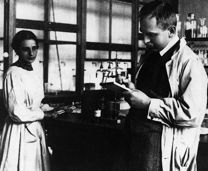 Lise Meitner y Otto Hahn