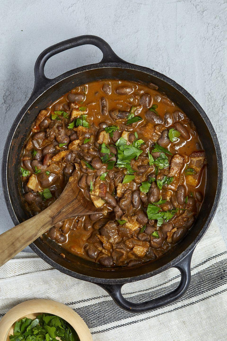 """<p>These are so deeply flavored. </p><p>Get the recipe from <a href=""""https://www.delish.com/cooking/recipe-ideas/a32293459/pinto-beans-recipe/"""" rel=""""nofollow noopener"""" target=""""_blank"""" data-ylk=""""slk:Delish"""" class=""""link rapid-noclick-resp"""">Delish</a>.<br></p>"""