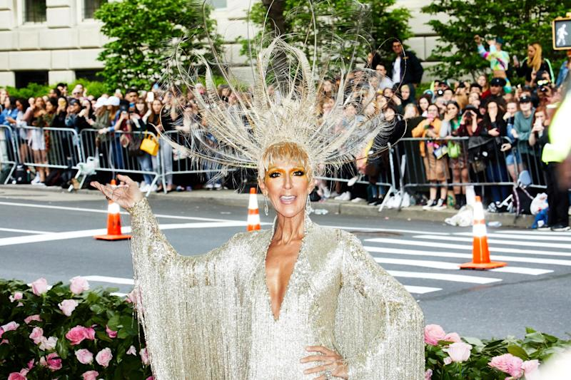 Celine Dion on the red carpet at the Met Gala in New York City on Monday, May 6th, 2019. Photograph by Amy Lombard for W Magazine.