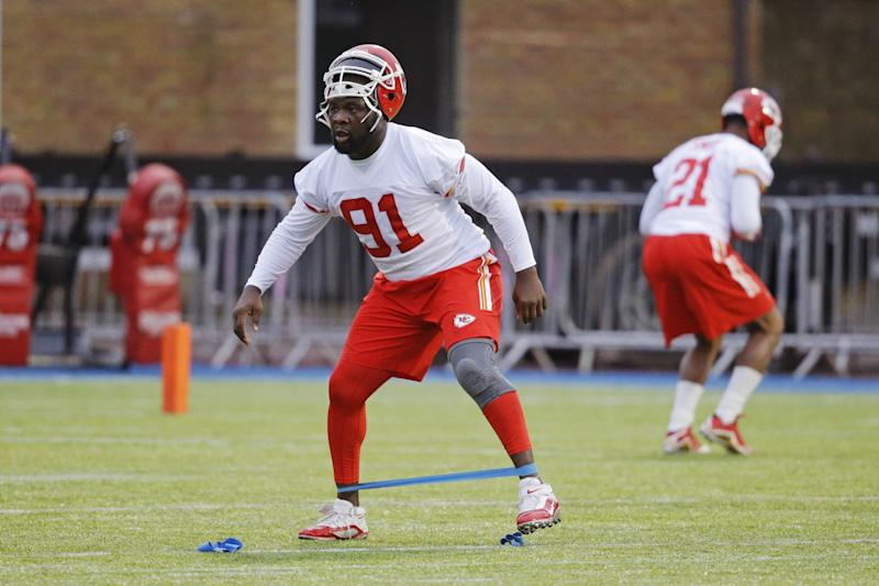 Normally quiet, Chiefs veteran Tamba Hali wondered if his team still needs him in a Saturday Twitter outburst. (AP)