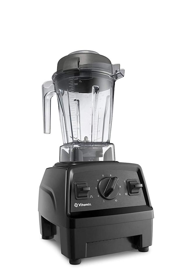 """<p>If you feel like splurging, do it with this <a href=""""https://www.popsugar.com/buy/Vitamix-E310-Explorian-Blender-513536?p_name=Vitamix%20E310%20Explorian%20Blender&retailer=amazon.com&pid=513536&price=350&evar1=fit%3Auk&evar9=46866669&evar98=https%3A%2F%2Fwww.popsugar.com%2Ffitness%2Fphoto-gallery%2F46866669%2Fimage%2F46866729%2FVitamix-E310-Explorian-Blender&list1=shopping%2Camazon%2Ckitchen%20tools%2Csmoothies&prop13=api&pdata=1"""" rel=""""nofollow"""" data-shoppable-link=""""1"""" target=""""_blank"""" class=""""ga-track"""" data-ga-category=""""Related"""" data-ga-label=""""https://www.amazon.com/Vitamix-E310-Explorian-Professional-Grade-Container/dp/B0758JHZM3?ref_=ast_sto_dp"""" data-ga-action=""""In-Line Links"""">Vitamix E310 Explorian Blender</a> ($350). You can make just about anything in this high-powered machine.</p>"""