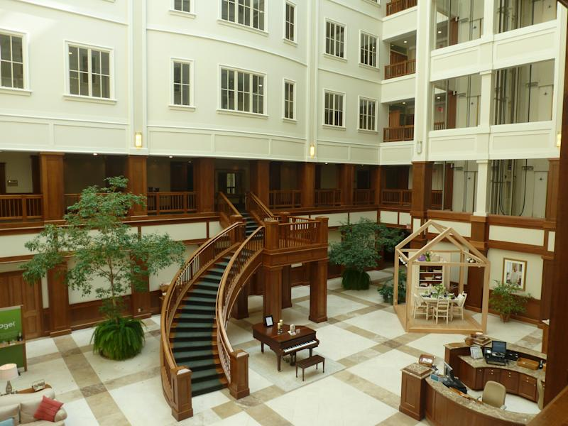 Inside Longaberger building