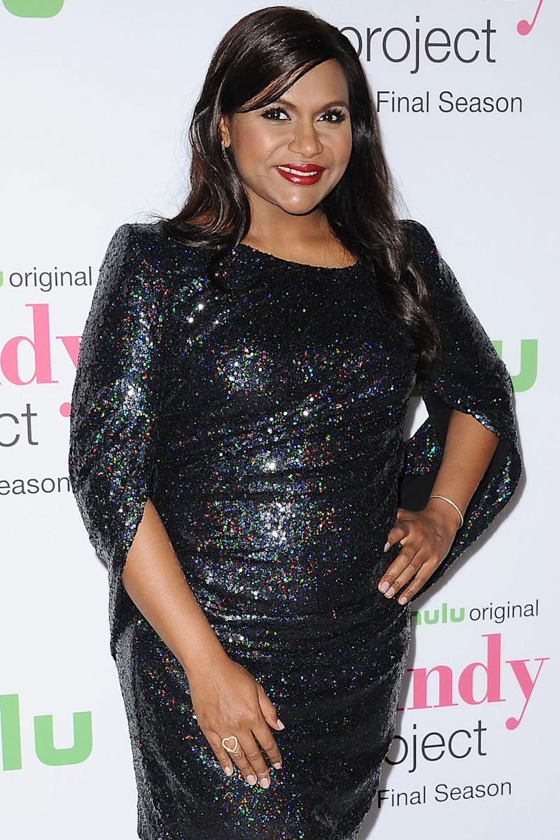 Mindy Kaling Shows Off Pink Nails and Jokes She's Had a 'Busy Week' After Welcoming Daughter