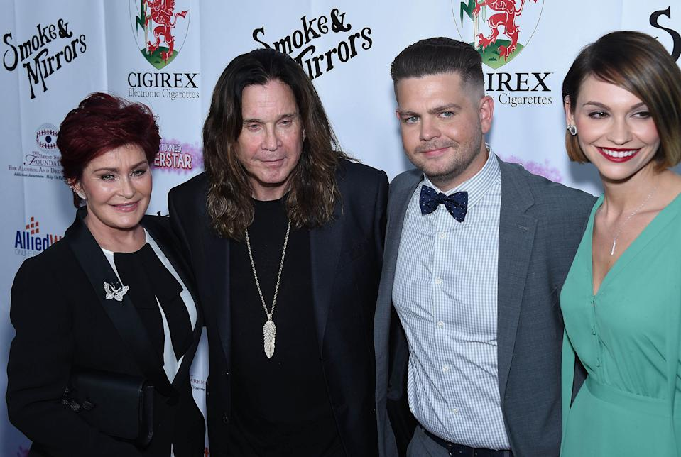 Photo by: KGC-11/STAR MAX/IPx 9/13/14 Sharon Osbourne, Ozzy Osbourne, Jack Osbourne and Lisa Stelly at the Brent Shapiro Foundation's Annual Summer Spectacular Under The Stars Gala. (Beverly Hills, CA)