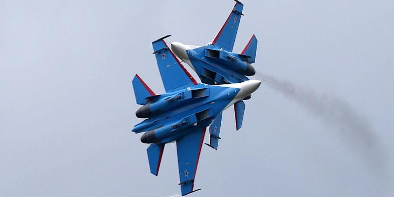Crash Involving Russian Knights Show 37