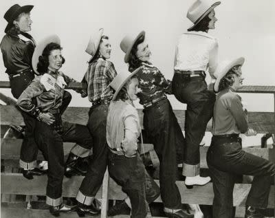 """Lady Levi's 701s were originally aimed at women working on ranches and had a slightly more feminine shape. Before that, females had to wear men's 501s, which still exist today and are known as """"boyfriend jeans."""""""